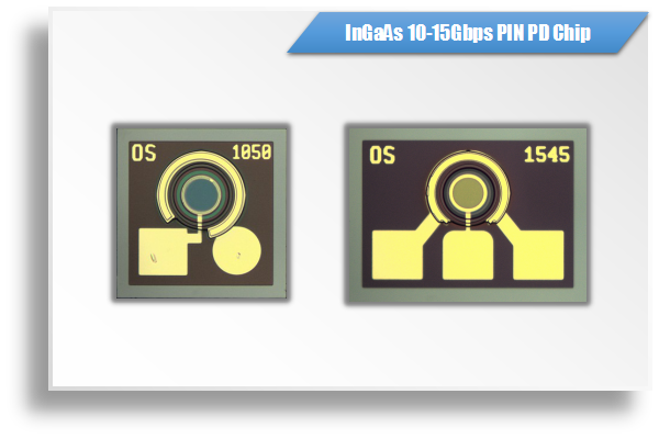 InGaAs 10Gbps-15Gbps PIN PD芯片